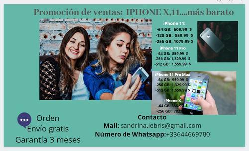 promoción de venta iphone x; 11; 11 pro ... más barato