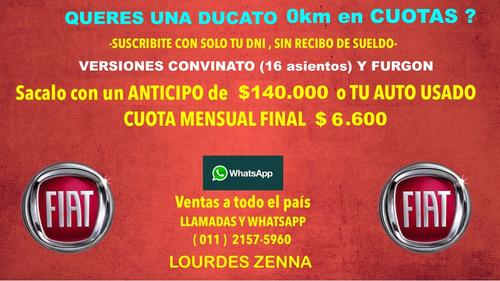 promoción ducato 0km - furgon y combinato ( tomo usados )