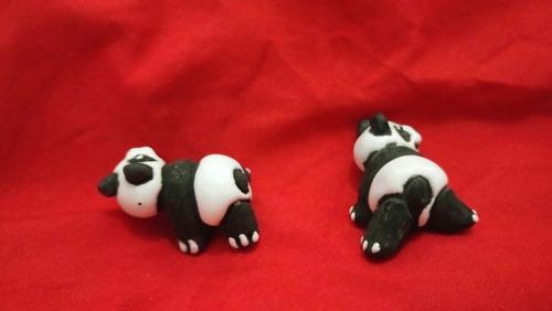 promoción figura barro vidriado decoración pandas colección