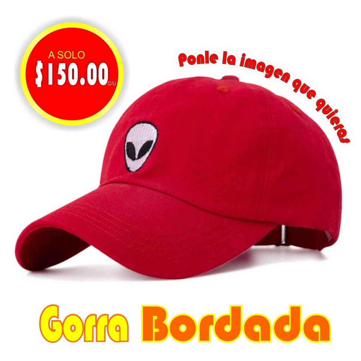 Promoción Gorra Bordada Personalizada -   120.00 en Mercado Libre 762e1b9dfe4