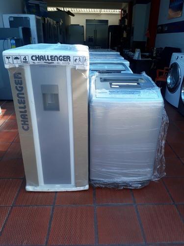 promoción gran oferta combo nevera lavadora nuevas challenge