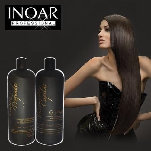 promocion! keratina inoar brasilena 250ml shampoo + keratina