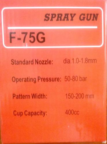 promoción kit  pintar  2 pistolas gravedad  f75g y w71g