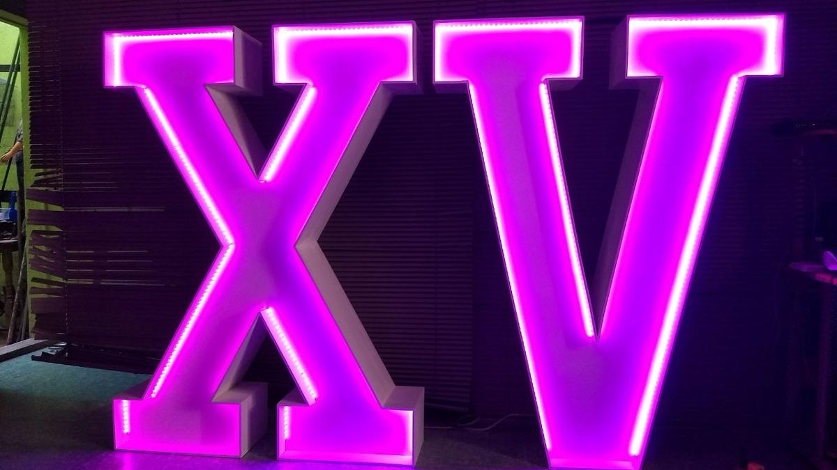 promocion letras gigantes xv con luz 2 en mercado libre. Black Bedroom Furniture Sets. Home Design Ideas