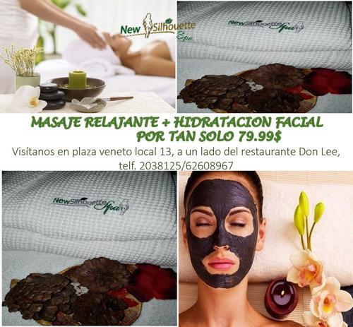 promocion.!!  masaje + facial hidratante
