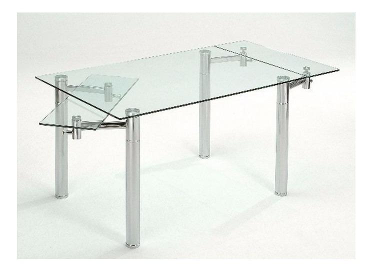 Promoción!!! Mesa De Comedor Vidrio Extensible 1,40 A 2mts