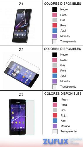 promoción mica protectora + tpu  sony varios modelos  colore
