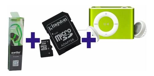 promocion navidad audifonos manos libres + microsd 4gb + mp3