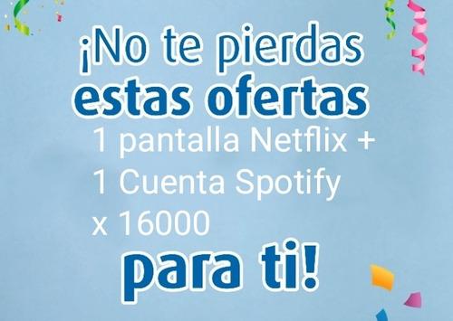 promoción netflix amazon + spoty