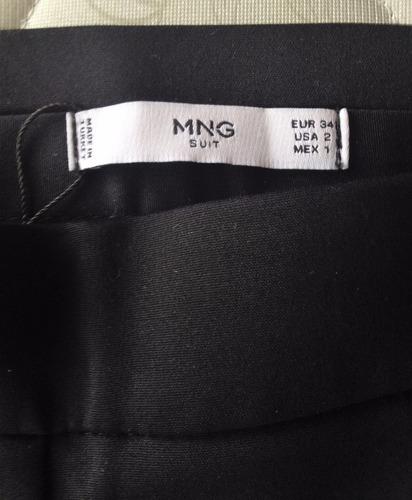 promoción pantalón mango negro talla 6 o 34 americana