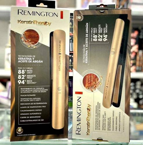 promoción. plancha  remington keratina y aceite de argan