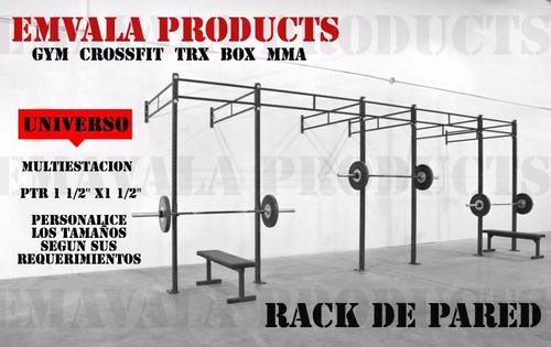 promoción rack de pared! sentadillas gym crossfit dominadas