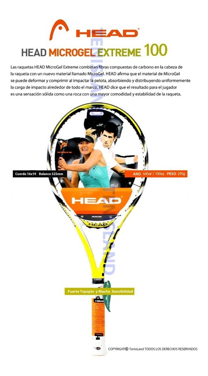 2f17b72a4ffb Promocion!! Raqueta Tenis Head Microgel Extreme Mp