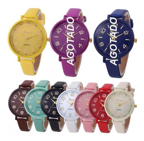 promoción reloj juvenil de cuarzo para dama  mujer