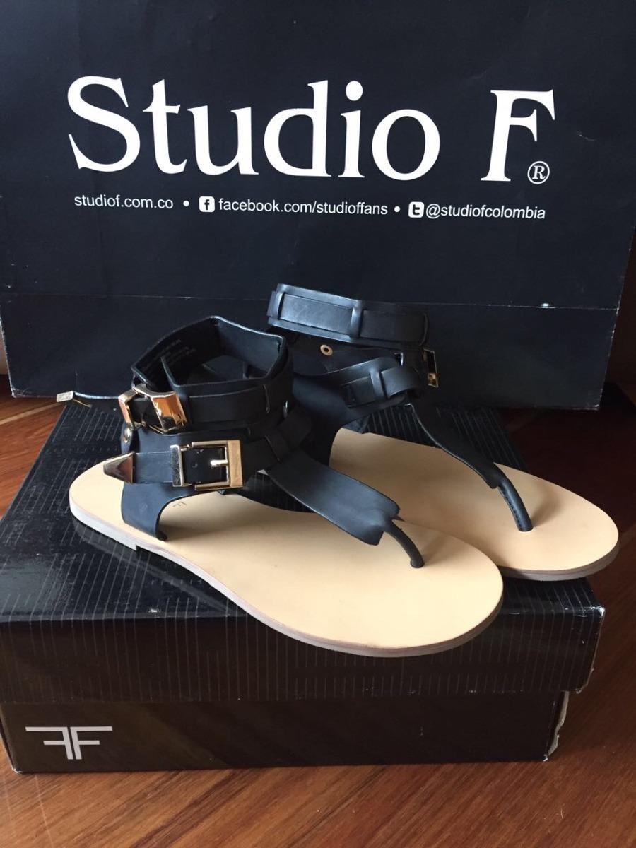 Sandalias En Negras F56 000 Planas Studio Libre Promoción Mercado POXTwiZuk