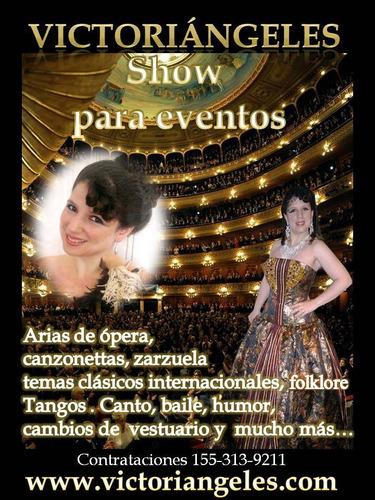 promoción show lírico, canzonettas, arias de ópera, español