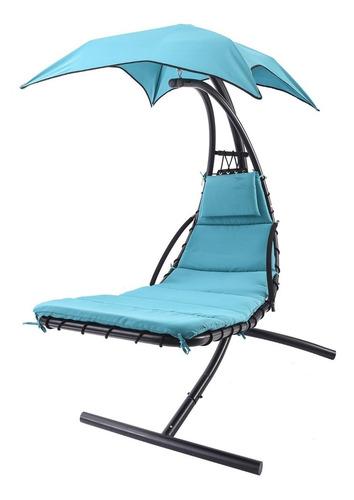 promoción silla camastro hamaca para jardín chaise azul