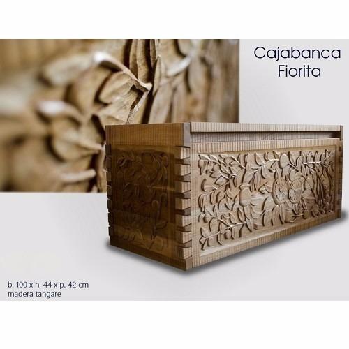 promocioneslafamilia caja bancas baúl fiorita de madera