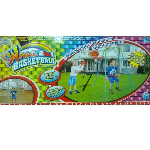 promocioneslafamilia columpios 2 en 1 con aro de baloncesto
