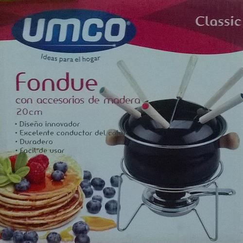 promocioneslafamilia fondue con accesorios de madera umco