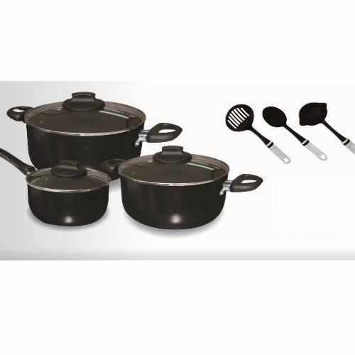 promocioneslafamilia sets de ollas práctico 9 piezas umco
