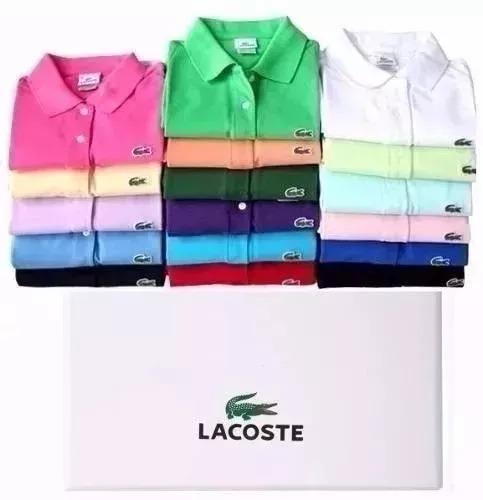 0089a05a7b044 Promoçâo 10 Camisa Lacoste Polo Masculino Frete Grátis - R  274,99 em  Mercado Livre