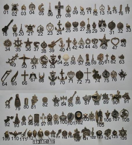promoção 10 pingentes para pulseiras colares vários modelos