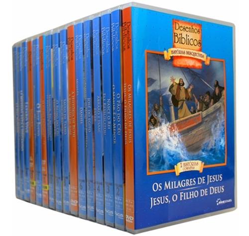 promoção 18 dvds - desenhos bíblicos histórias inesquecíveis