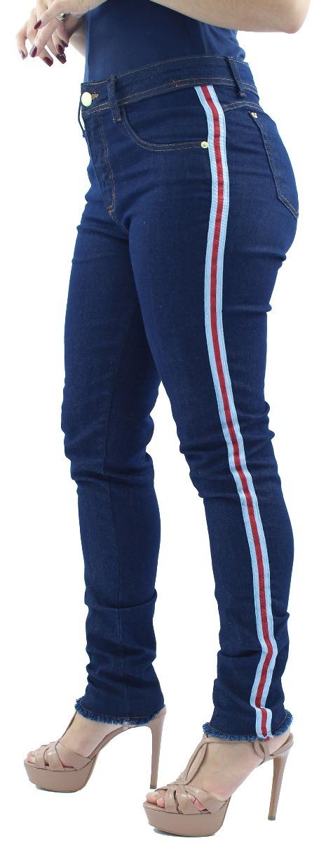 ab3d9ae0f promoção 2 calças feminina modelo rasgada + faixa lateral. Carregando zoom.