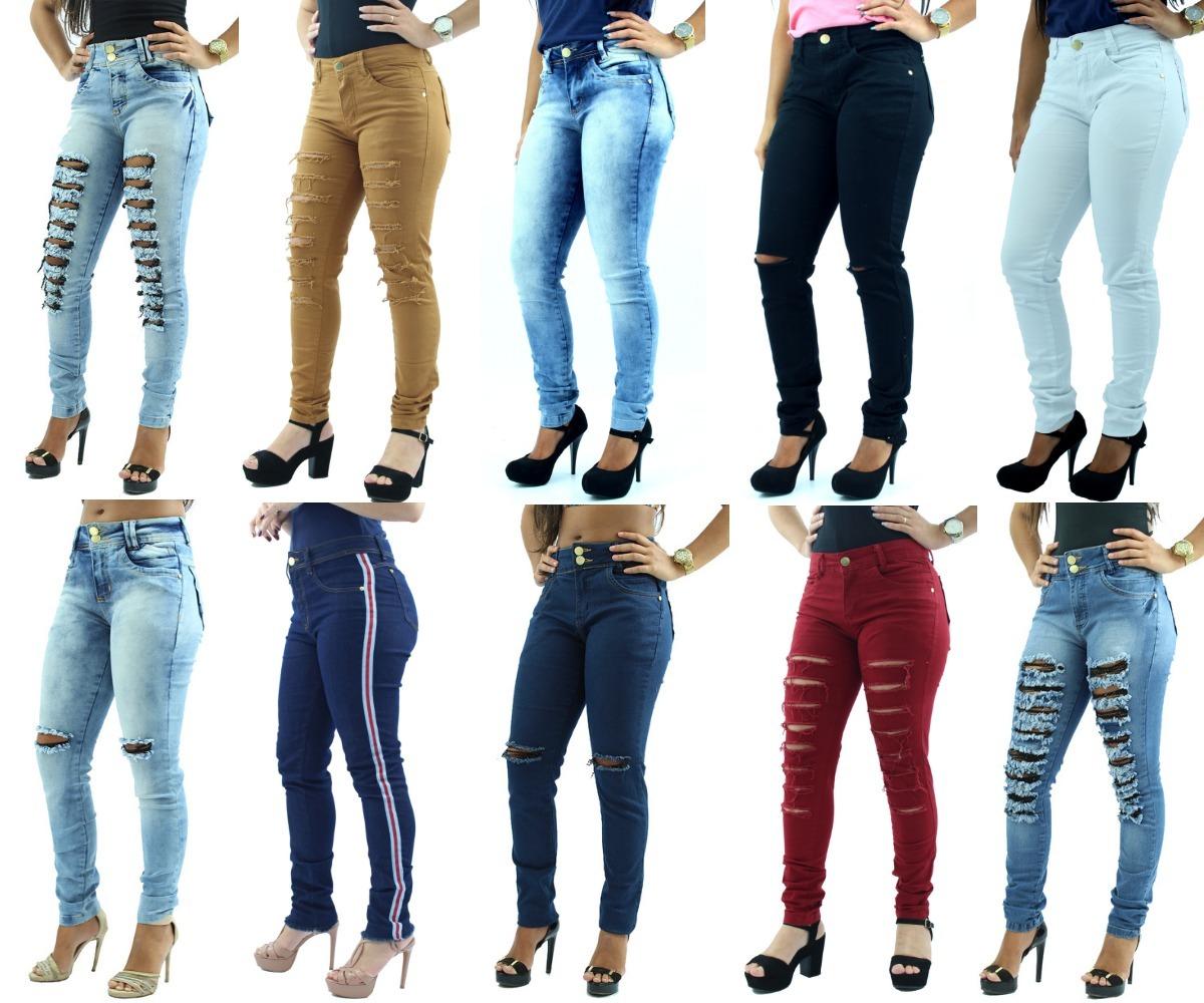 be78dad83 promoção 2 calças jeans feminina rasgadas cintura média. Carregando zoom.