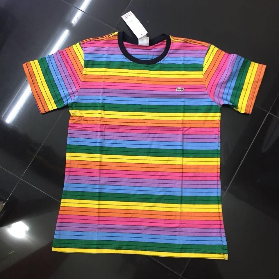 Promoção camiseta lacoste casal top arco iris carregando zoom jpg 960x960 Camisas  lacoste arco iris 58058cfcaf