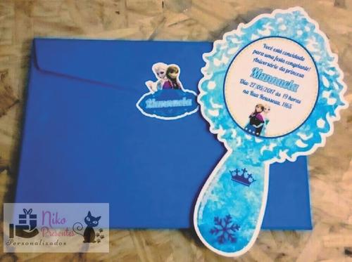 promoção 20 convite espelho recorte especial branca de neve!