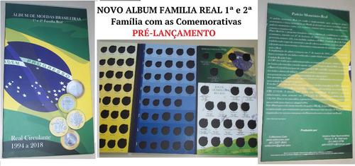 promoção 2017 álbum moeda família real 1994-2018