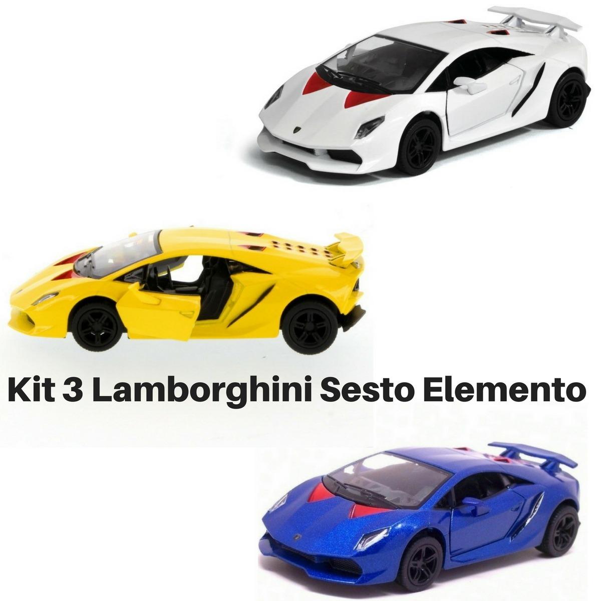 Promocao 3 Miniatura De Colecao Lamborghini Sesto Elemento R 51