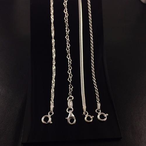 promoção 4 pulseira fem. prata maciça 925 laminada e torcida