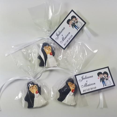 promoção!!! 50 noivinhos - lembrancinhas de casamento c/ imã
