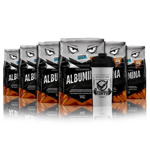 promoção 6x albumina desidratada sabores - proteína pura