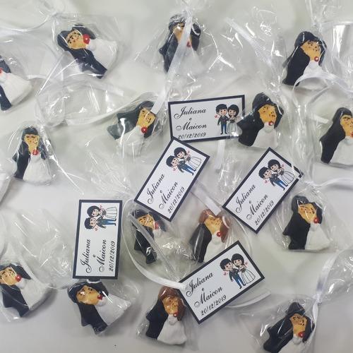 promoção!!! 80 noivinhos - lembrancinhas de casamento c/ imã
