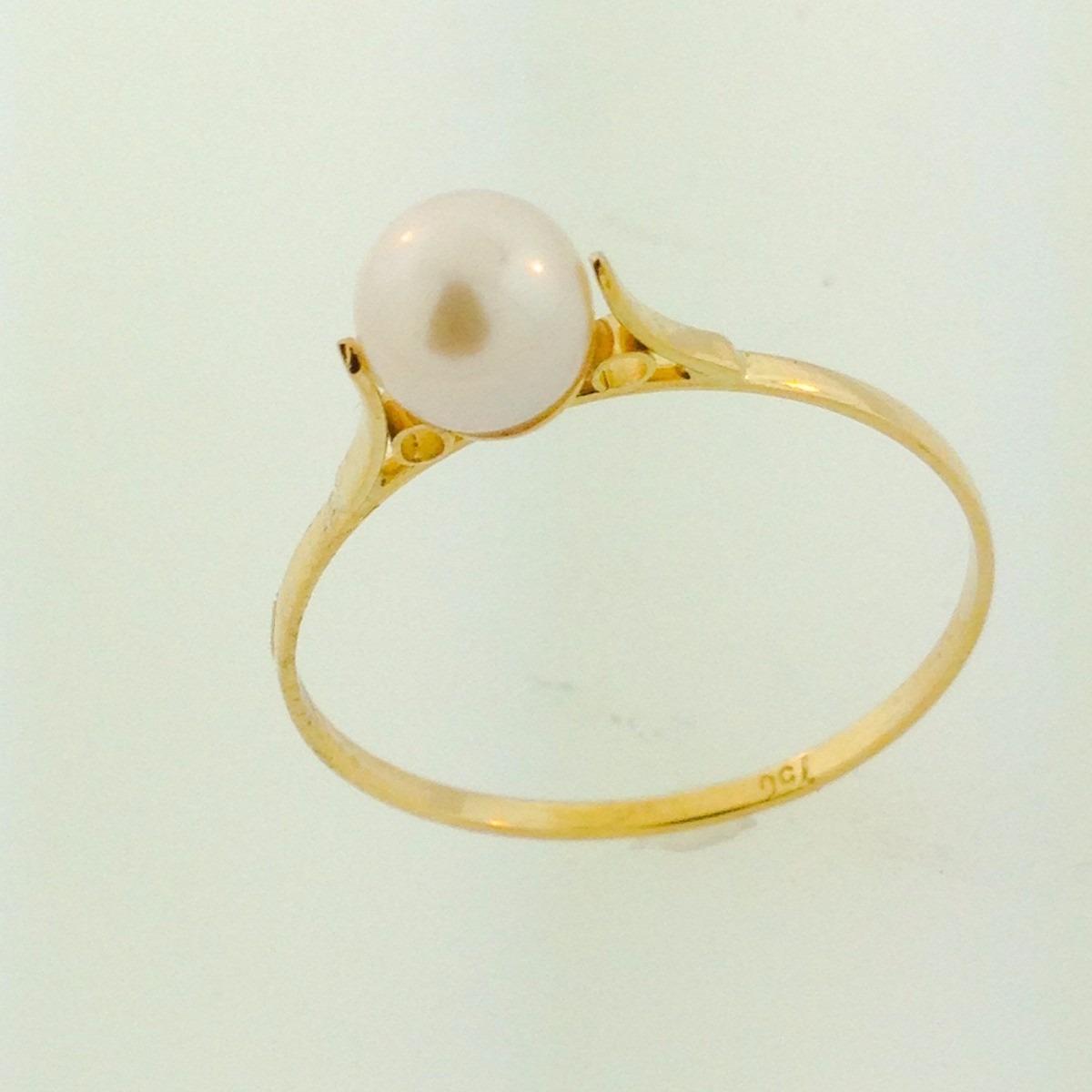 promoção anel feminino pérola 5mm+ pingente biwa ouro 18k750. Carregando  zoom. dd96965caa