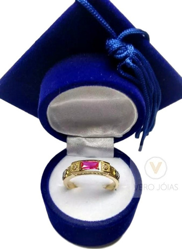 promoção anel formatura masculino ouro 18k todos cursos 12x