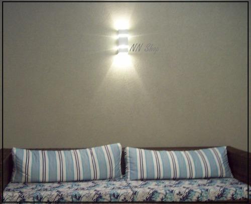promoção arandela 2000 externa 2 fachos fech. em vidro 30cm