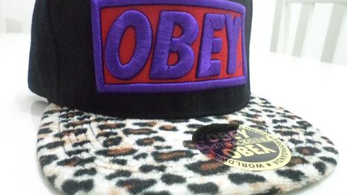 promoção - boné obey leopardo - a pronta entrega