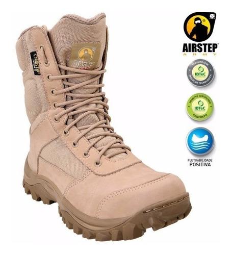 promoção bota airstep 8627-25 confort respirável tan.