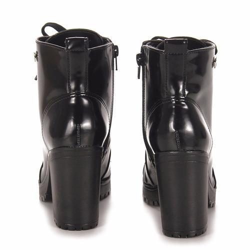 promoção bota ankle boot coturno feminino via marte 17-1401
