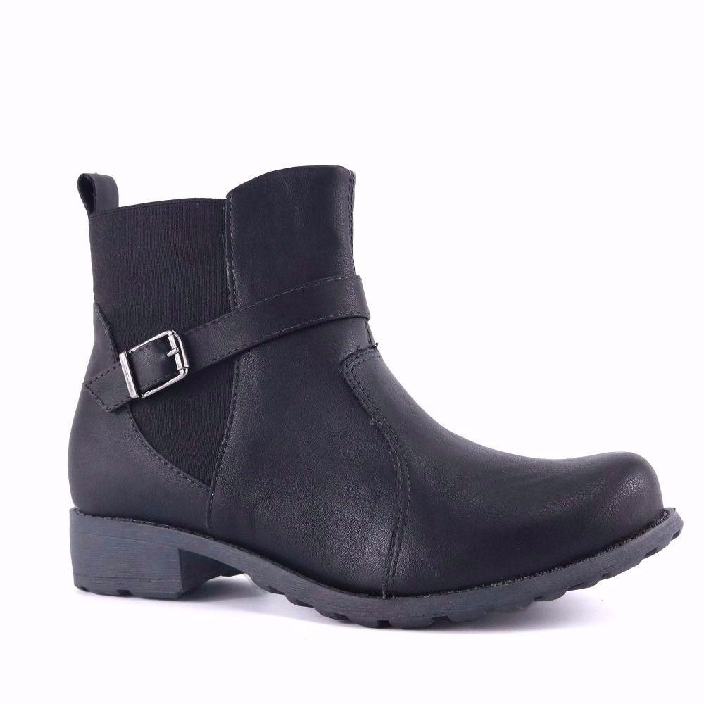 bc8762b2b7 promoção bota ankle boot feminino vivaice 43-87869 preto. Carregando zoom.