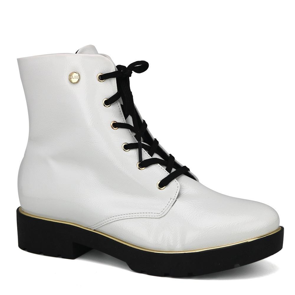 cbffb1666 promoção bota ankle coturno feminino quiz 69-55804 branco. Carregando zoom.
