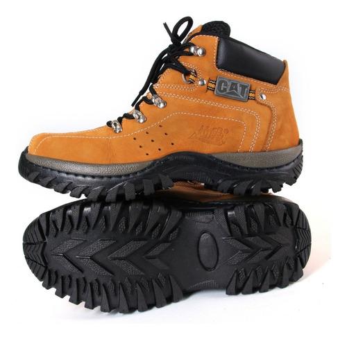 promoção bota botina coturno caterpillar original em couro