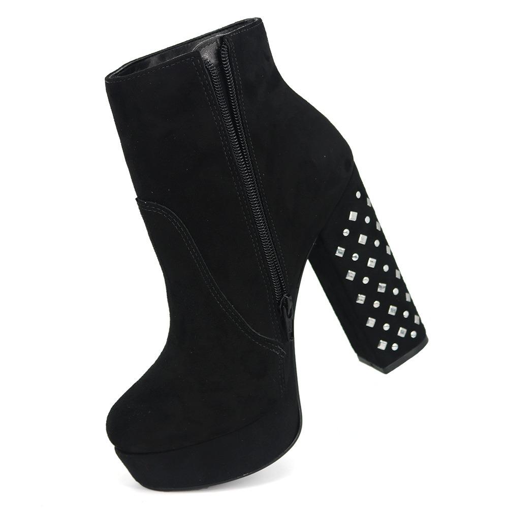 52f6f525a promoção bota cano curto feminino via marte 18-6355 preto. Carregando zoom.