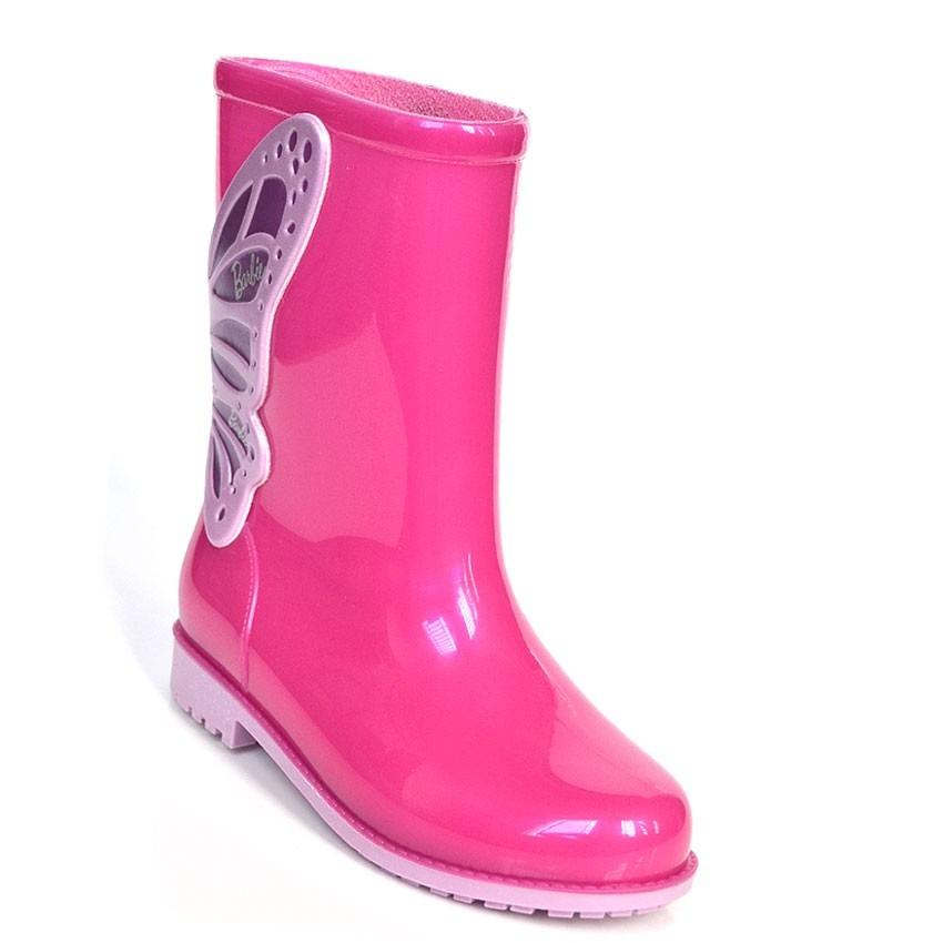 74062ab6e6d Promoção Bota Galocha Menina Barbie Pink 21564 - R  49