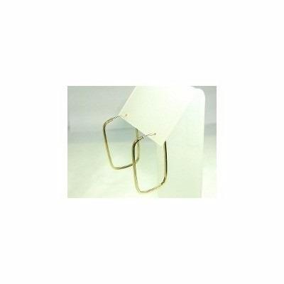 promoção brinco de argola quadrado em ouro 18k-750